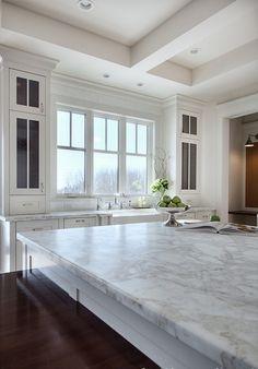 Interior Design IdeasKitchen countertop is honed Calacatta Gold.  Veranda Estate Homes & Interiors.