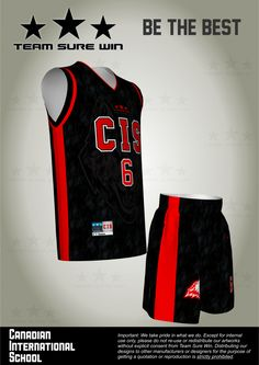 1633b1999b3 Sublimation basketball uniform for Canadian International School  (Singapore). Created by Team Sure Win