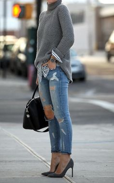 Ripped Jeans outfit ideas (4)