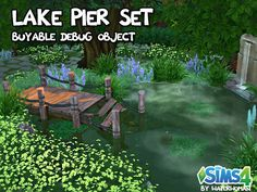 Lake Pier Set by Waterwoman at Akisima • Sims 4 Updates
