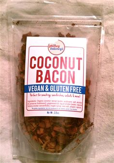 Phoney Baloney's - Vegan Coconut Bacon #vegan #awesome $4.95 Becoming Vegetarian, Vegetarian Lunch, Vegetarian Recipes Easy, Snack Recipes, Coconut Bacon, Alphabet Soup, Vegan Kitchen, Easy Pasta Recipes, Low Calorie Recipes