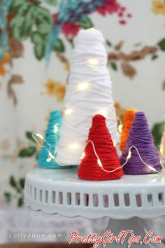 @prettygirltips Yarn Wrapped Trees