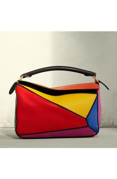 cef3995438b1 Loewe Small Puzzle Colorblock Calfskin Leather Bag available at  Nordstrom  Thời Trang Hàng Ngày