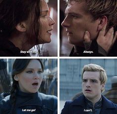 The hunger games igrzyska śmierci mockingjay kosogłos Peeta katniss peetniss stay with me always