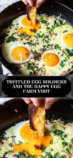 These truffled egg soldiers with a touch of shallots and mushrooms cooked in butter, topped with melty cheese is the ultimate luxury weekend breakfast that you deserve! High Protein Low Carb, Low Carb Diet, Cooking Recipes, Healthy Recipes, Yummy Appetizers, Soldiers, Mushrooms, Food Ideas, Dinners