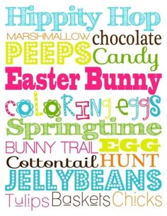 Easter subway art printable by Katie.Novak.9022.....LOTS of holidays!!
