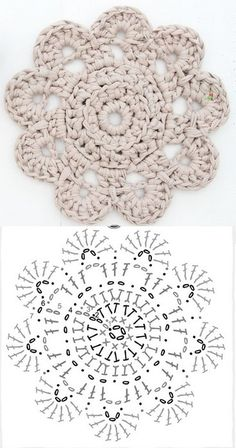 Aprendendo a ler os gráficos pattern crochet doily. This looks like a good practice pattern for learning how to read this type of pattern.With this new free pattern crochet doily, create the perfect decorative item, to keep or to Mandalas en Mandala Au Crochet, Crochet Diy, Crochet Circles, Crochet Motifs, Crochet Diagram, Crochet Chart, Crochet Squares, Crochet Doilies, Crochet Flowers