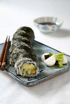 Spicy Avocado Sushi with Tropical Flair