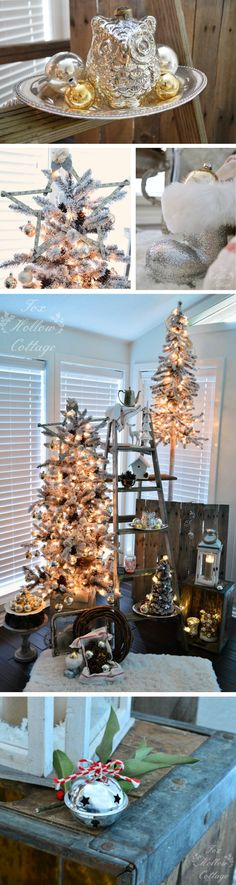 Rustic Christmas: Vintage, Thrifted and @HomeGoods blended decor.