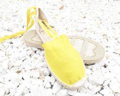 IBIZA Lace Up Espadrilles Organic Cotton Women by IBICENCAS  #espadrilles #flats #hippie #sandals #shoes #handmade #summer #happy #sun #beach #ballerinas