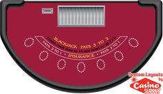 Custom Blackjack Casino Party Planners  by Casinosupply.com