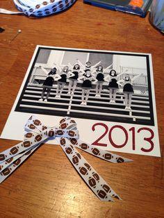 Cheerleading squad photo locker sign/decoration