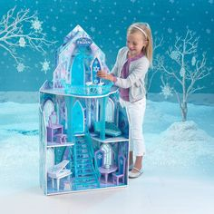 Disney Frozen Dollhouse Girls Dream Barbie  Doll House Castle Princess Clearance #KidKraft