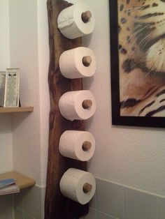 Roll holder DIY / DIY Support à papier de toilette rustique