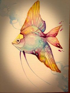 This inspires me in how I want fishes with my mermaid Watercolor Fish, Watercolor Pictures, Watercolor Animals, Watercolor Paintings, Fish Paintings, Watercolor Cards, Alcohol Ink Painting, Alcohol Ink Art, Fish Drawings