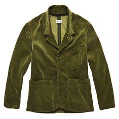 Mens Retro Trendy Corduroy Jacka Stora Fickor Casual Blazer - Army Green M Casual Blazer, Army Green, Corduroy, Collars, Thighs, Suit Jacket, Leather Jacket, Mens Fashion, Suits