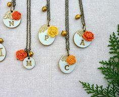 Rustic Chic Wedding Bridesmaids gifts Orange and by Palomaria
