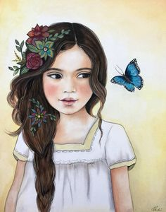The blue butterfly by claudiatremblay on Etsy