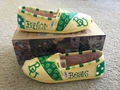 #Baylor Bears Toms! My girls would love these!