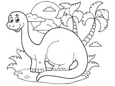 Coloriage : heureux dinosaure Home Pictures, Pictures To Draw, Colouring Pages, Coloring Books, Dinosaur Coloring Sheets, Kindergarten Coloring Pages, Dinosaur Images, Pop Toys, Clipart Black And White