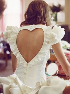 heart-shaped engagement party/rehearsal dinner dress; pretty.