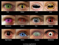 contact lenses D: these are way too cool! definitely perfect for Halloween (Psoas Release Tank Tops) contact lenses D: these are way too cool! definitely perfect for Halloween (Psoas Release Tank Tops) Halloween Contacts, Halloween Eyes, Holidays Halloween, Halloween Cosplay, Cool Contacts, Colored Contacts, Face Off, Naruto Contact Lenses, Cosplay Make-up