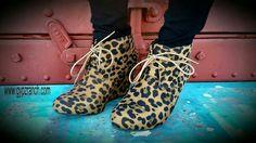 Leopard Wedge Booties $35 www.gypzranch.com