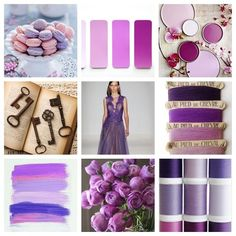 What's Happening on trend (Mood Board using Radiant Orchid, Pantone's 2014 color of the year)