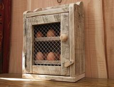 Handmade Rustic Egg Hutch / Cabinet  Made From by NewPurposeDesign