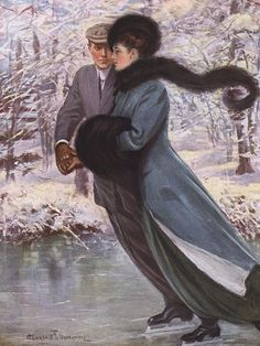 Love Lauhgs At Winter ~ Clarence F. Underwood