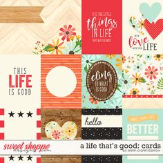 A Life That Is Good: Cards by Kristin Cronin-Barrow Printable Scrapbook Paper, Printable Planner Stickers, Scrapbook Stickers, Printable Paper, Scrapbook Cards, Project Life Scrapbook, Project Life Cards, Pocket Scrapbooking, Scrapbooking 101