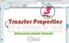There's a little gem of a tool hidden along the top tool bar of Silhouette Studio in Designer Edition. It's the Transfer Properties tool. If you haven't used it - you're totally missing out on a short
