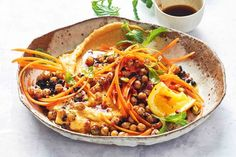 Moroccan carrot salad with spicy chickpeas