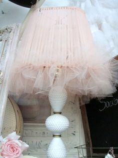 A Positively Beautiful Blog - tulle lampshade, clever and beautiful!