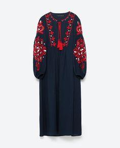 Robe longue zara noire