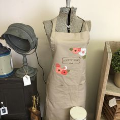 Country Chic Paint Retailer Display ideas - Dress form & apron #countrychicpaint #countrychicpaintretailer #vintageandco #vintageandcompany Dress Form, Country Chic, Display Ideas, Apron, Retail, Painting, Dresses, Fashion, Vestidos