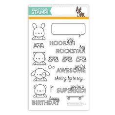 Mama Elephant STAMPtember Exclusive SKATER KIDS Clear Stamps SSS101560