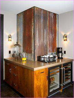 decorating with corrugated steel google search