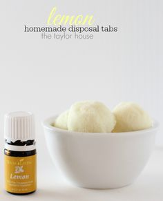 Homemade Lemon Sink Disposal Cleaner Tabs!