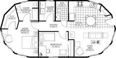 Deltec Homes Crescent Chalet floor plans Cob House Plans, Round House Plans, Cabin Plans, Modern House Plans, Small House Plans, House Floor Plans, Small Tiny House, Tiny House Cabin, Monolithic Dome Homes