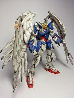 RG 1/144 Wing Gundam Zero Custom EW 'Battle Damage' - Painted Build