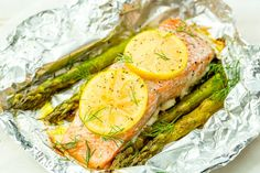 Foil Pack Grilled Salmon with Lemony Asparagus  - Delish.com