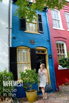 The narrowest house in America is located at 523 Queen Street in Old Town Alexandria. Known as The Spite House, it is only 7 feet wide and 325 square feet. Alexandria Virginia, Old Town Alexandria, 7 Places, Oh The Places You'll Go, Spite House, Nuremberg Castle, Houses In America, Old Town San Diego, Dubrovnik Old Town