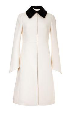 Couture Coat With Persian Lamb Detachable Collar by Valentino - Moda Operandi
