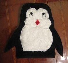 penguin bath mitt