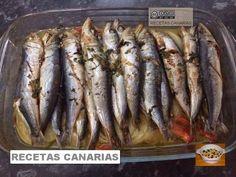 RECETAS CANARIAS: SARDINAS AL HORNO Tapas, Fish, Meat, Recipes, Cooking Recipes, Meals, New Recipes, Pisces