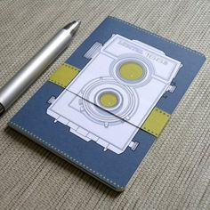 Vintage camera notebook - Lomo Lubitel BW Front and Back