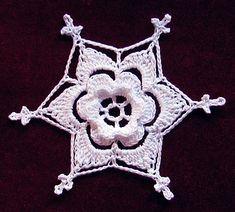 Ravelry: Loriart's Irish Rose Snowflake <3