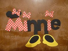 Minnie Mouse Title Die Cut by bcerdeiros on Etsy, $3.00