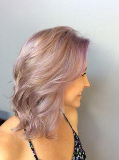Lavender hair color. Pastel hair color. Light purple hair color